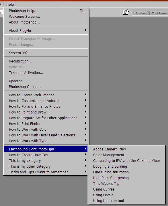Just a few ideas of what can be added to the Photoshop Help menu