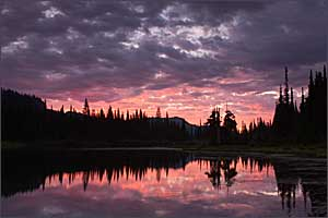 Dawn at Reflection Lakes, Mt. Rainier National Park