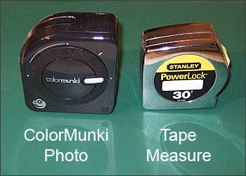ColorMunki Photo versus a tape measure