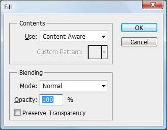 Content-Aware Fill dialog in Photoshop CS5