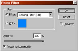 Final setting for warming Photo Filter