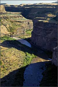 Palouse Falls after optimization with cooling and warming adjustment layers