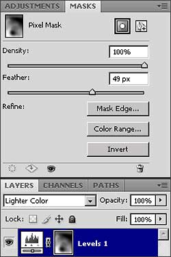 Photoshop CS4 Masks Panel