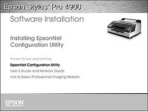 Installing the Epson Stylus Pro 4900 software and drivers