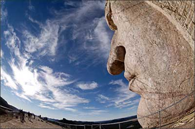 The Crazy Horse Memorial in South Dakota