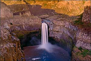 Sunset at Palouse Falls in Eastern Washington state