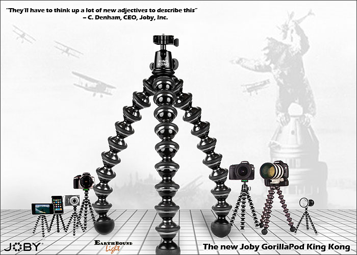 The new GorillaPod King Kong is poised to reach new heights on April 1