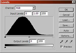 Photoshop CS Levels dialog