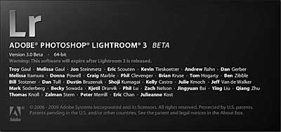 Welcome to Adobe Lightroom 3 Beta
