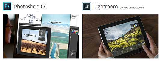 Photoshop CC plus Lightroom, available now