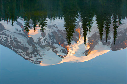 Mt. Rainier reflected in Reflection Lakes