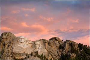 Mt. Rushmore in South Dakota shot with a Singh-ray Gold-N-Blue polarizer