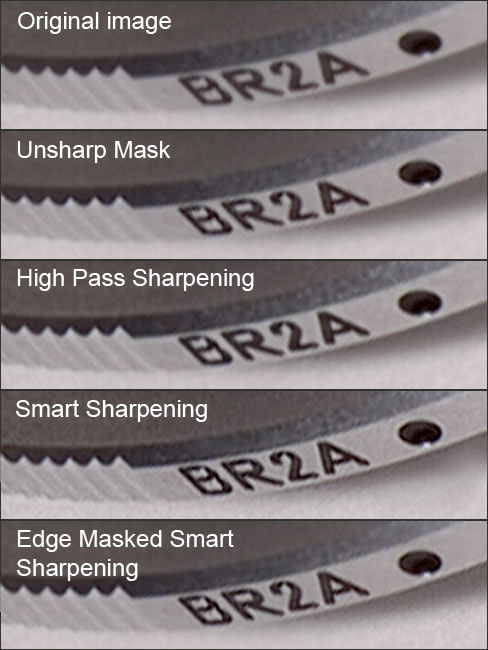 Comparison between various sharpening methods
