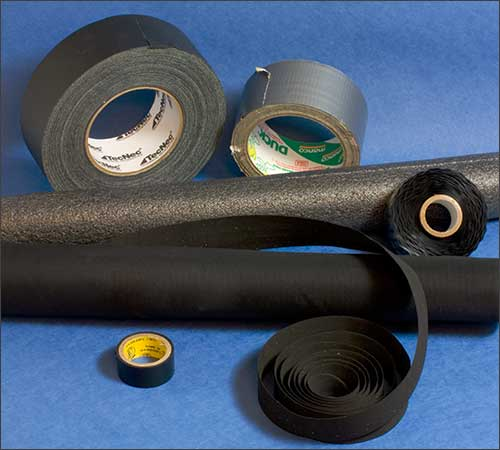 Tripod padding solutions: pipe insulation, Tri-Pads, handlebar tape and other helpful items
